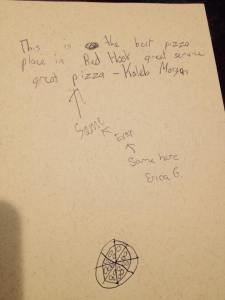 guestbook kids pizza